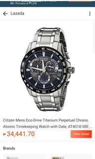 Citizen eco drive watch. Original price $625