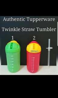 Instock Instock Authentic Tupperware  Twinkle Straw Tumbler 350ml  《Retail Price S$14.90/Piece》  Additional Straw can be purchase @$1.80/Piece 《Additional Straw Brush @$2.50/Piece》