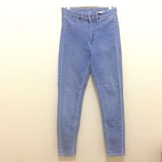 H&M Skinny High Waist Ankle Jeans Denim