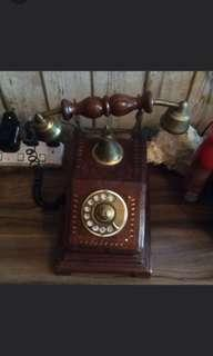 Combo: TELEPHONE ANTIQUE/ REPLICA RIFLE/ HORSE WALL FRAME