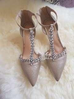 Badgley Mischka meena bridal shoes size 7