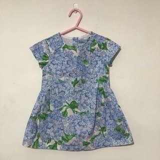 Gingersnaps hydrangeas toddler Girl Dress