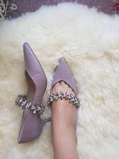 Zara pink heels size 37