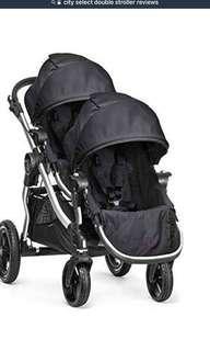 City Select Double Stroller in Black Frame