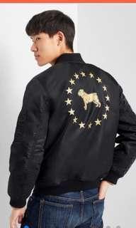 🚚 全新$3499GAP黑色棒球外套 中性男版XS=女版M