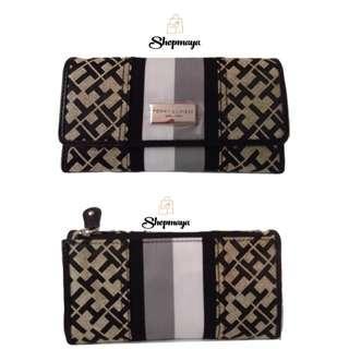 Tommy Hilfiger Continental Monogram Tri-Fold Women's Checkbook Clutch (100% Authentic)