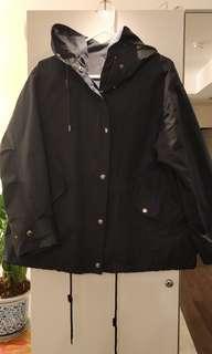 H&M Navy rain coat