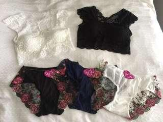 New Lace Bralets & Panties Sexy Lingerie