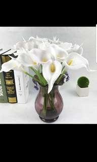 Artificial flowers - lily, comes in white/yellow/pink