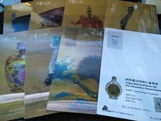 🚚 3D立體名信片郵票套組。台灣紀念品。台灣伴手禮。Taiwan Memorial postcard stamp
