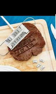 Steak Branding iron - customisable as alphabets are available