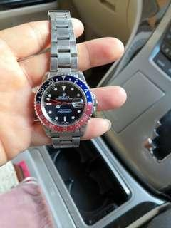 Rolex 16710 GMT II Pepsi 褪色百事圈 serial  序號 A7xxxxx  ~1999