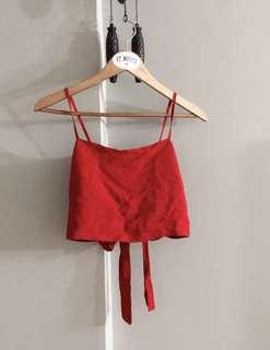 $20 SALE // Brandy Melville Kimberly top in red