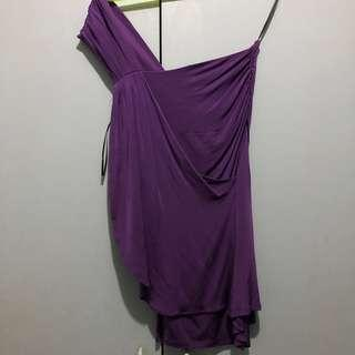Asymmetrical violet Zara Top