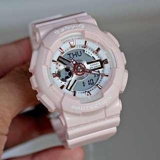 Authentic Brand New Casio Baby-G BA-110RG-4A ladies Pastel Color Pink Gold Index Watch BA-110RG-4 BA110RG-4A BA110RG-4 BA110 BA110RG