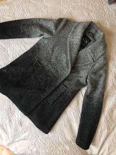 Armani Exchange Ombre Black and Grey Winter Jacket 冬天褸 外套 漸變色 黑色 灰色