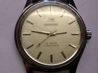 國產上海男裝手動上練表,19石,行走正常,品相如圖