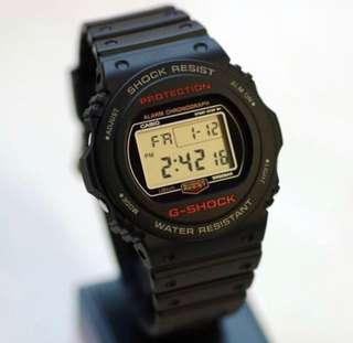 Authentic Brand New Vintage Casio G-Shock DW-5750E-1D Men's Watch DW5750E DW5750 DW5750E-1D DW-5750E-1 DW5750-1 DW-5750-1DR