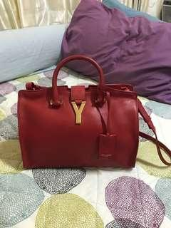 Authentic ysl cabas small in red