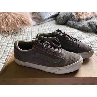 """US SIZE 7.5 - VANS """"Old Skool Shoes"""" grey suede"""