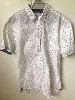 White Casual Patterned Shirt Level Ten Brand New