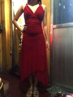 Red elegant long gown