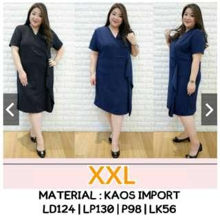 Wrap Dress Bigsize XXL