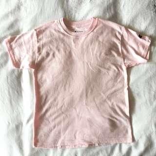 Authentic Champion Pink Plain Shirt #Cny888