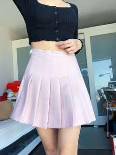 Korean Pastel Pleated Skirt