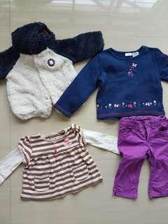Winter clothes 12 to 4T size