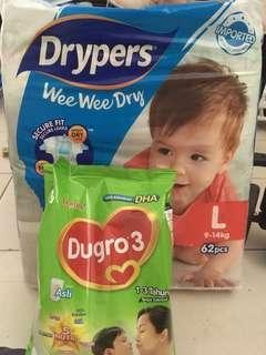 Diapers & milk