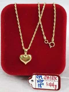 18K Heart Gold N/P