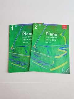 Grade 1 and 2 Piano Exam Pieces 2011 & 2012 (with CD)
