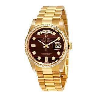 Rolex Day-Date Automatic Men's 18kt Yellow Gold President Watch