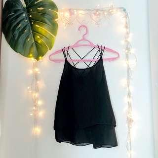 Black top with stripe details