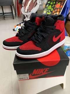 放 Air Jordan 1 Ret Hi Flyknit BG 5.5Y aj1 bred