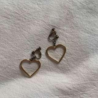 🚚 可愛ㄉ愛心耳夾