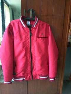 Jaket bomber merah 6 fungsi