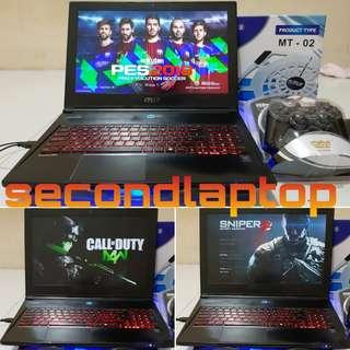 MSI GS60 2PC NVIDIA GTX 860 SSD 128GB HDD 1TB BONUS MURAH