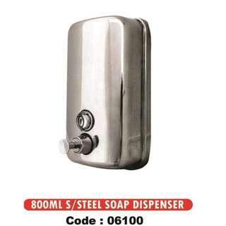 800ML HEAVY DUTY 304 STAINLESS STEEL SOAP DISPENSER SOAP CONTAINER