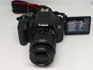 canon eos 700d w 18-55mm is lens hd video flip lcd