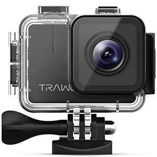 🚚 全新Trawo運動相機/機車行車紀錄器/防水相機+防水殼,4K WiFi超高清20MP水下防水40M攝錄一體機