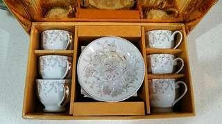 Tea set (6 cups set) porcelain