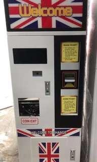 Token exchange machine for Dobi or Amusement Park.