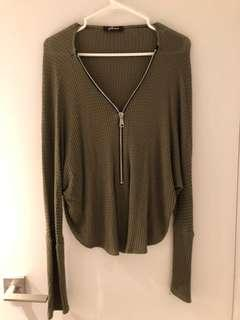 Gilbert  Loose Khaki Green Knit