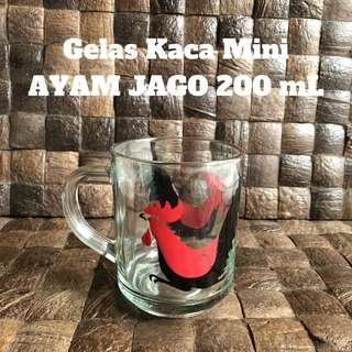 Gelas Kaca Ayam Jago / Cangkir Mini Ayam Jago
