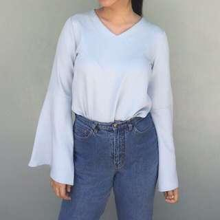 Flared sleeved top