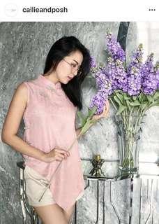 Top cheongsam pink