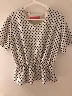 Polka Dot Stretchy shirt