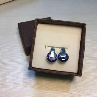 zirconia 925 sterling silver blue